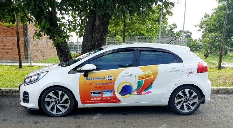 quy định cấp phép quảng cáo trên xe taxi