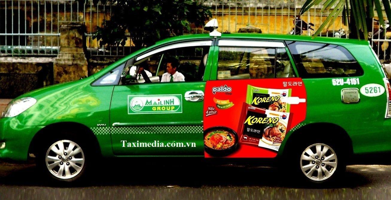 luật quảng cáo trên xe taxi