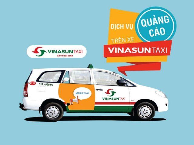 liên hệ quảng cáo trên xe taxi giá rẻ