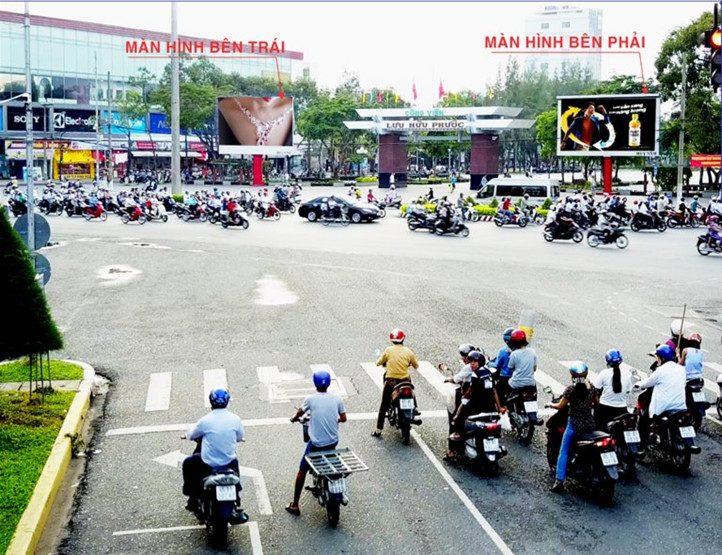 Hình ảnh vị trí 2 màn hình led tại Công viên Lưu Hữu Phước