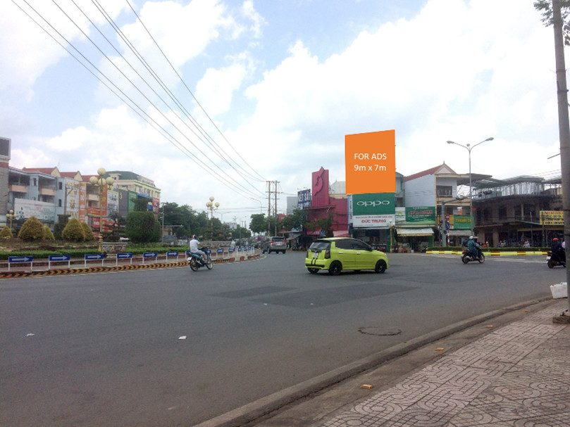 Vị trí Billboard tại 208 Quốc lộ Đồng Xoài - Bình Phước