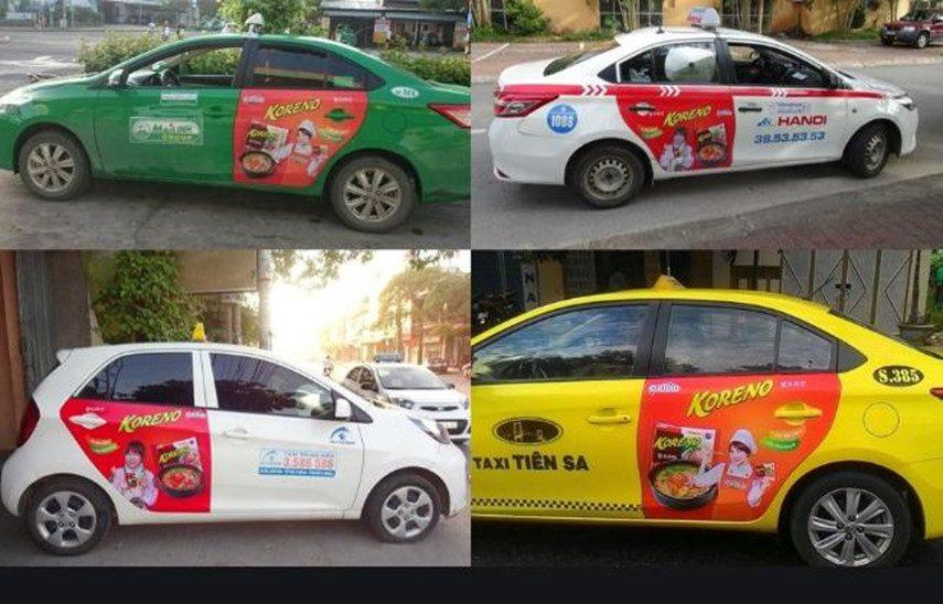 Koreno quảng cáo taxi