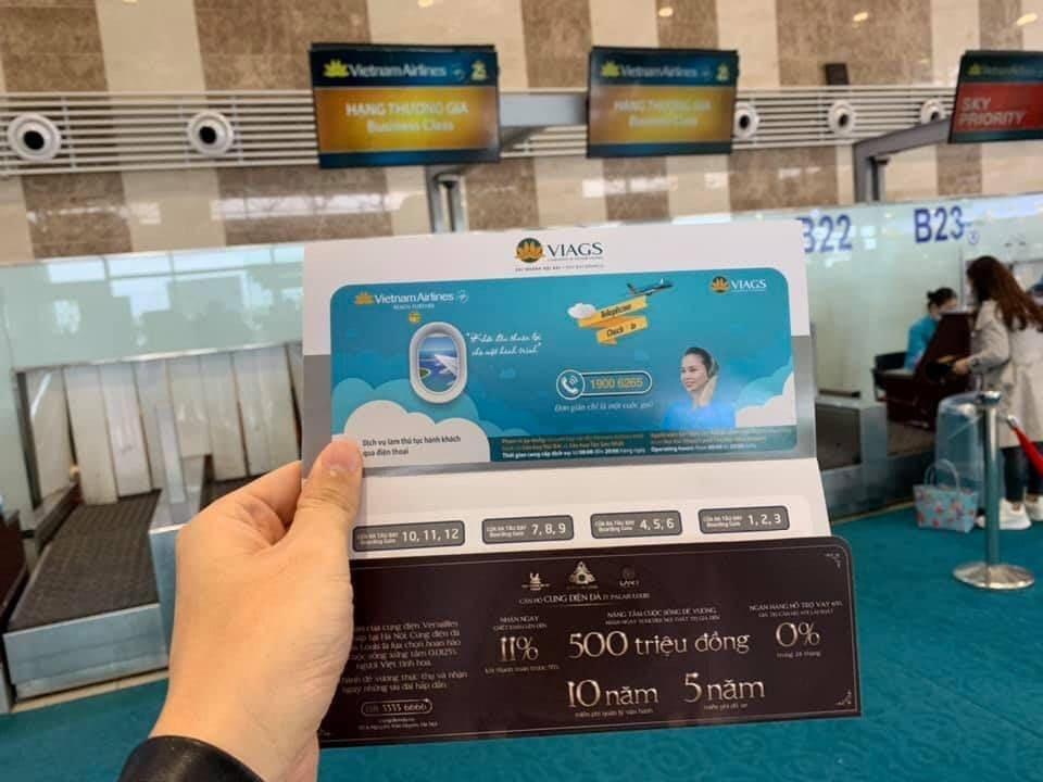 Hình ảnh quảng cáo trên boarding pass