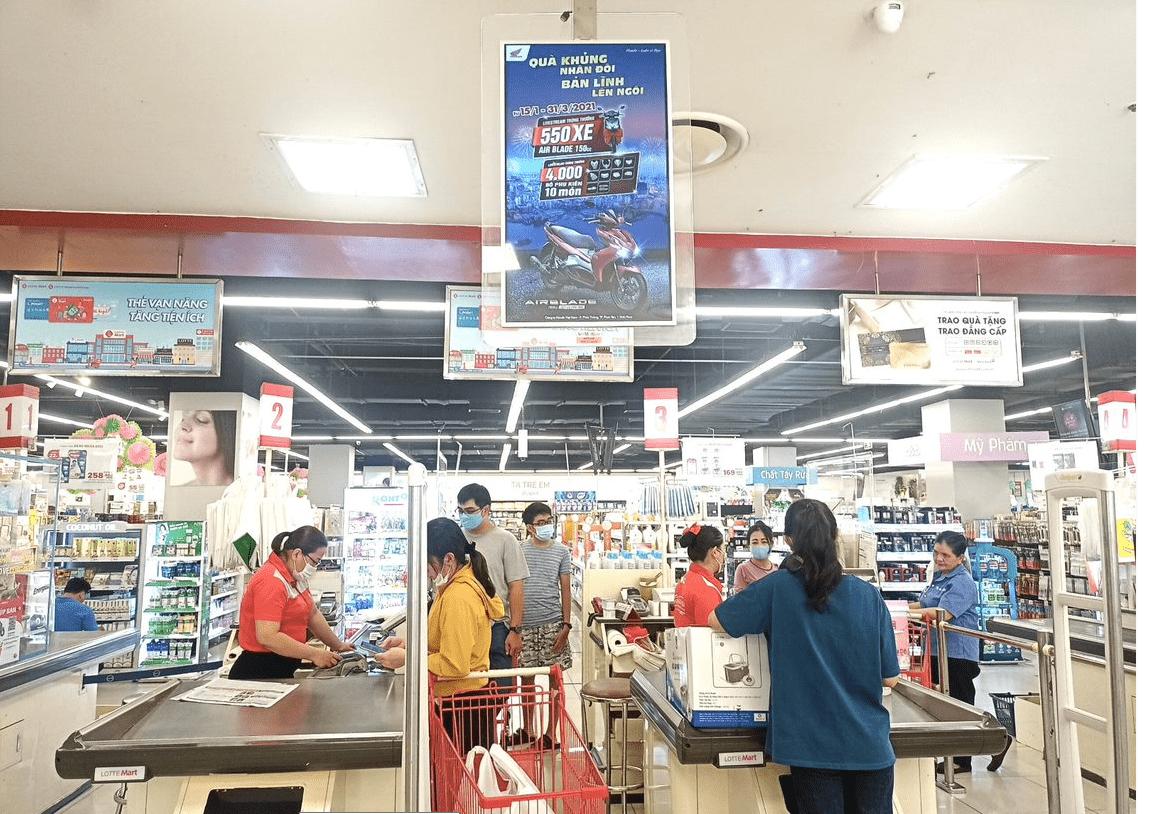 Hình ảnh Quảng cáo S@M (LCD & STANDEE) tại Lotte mart
