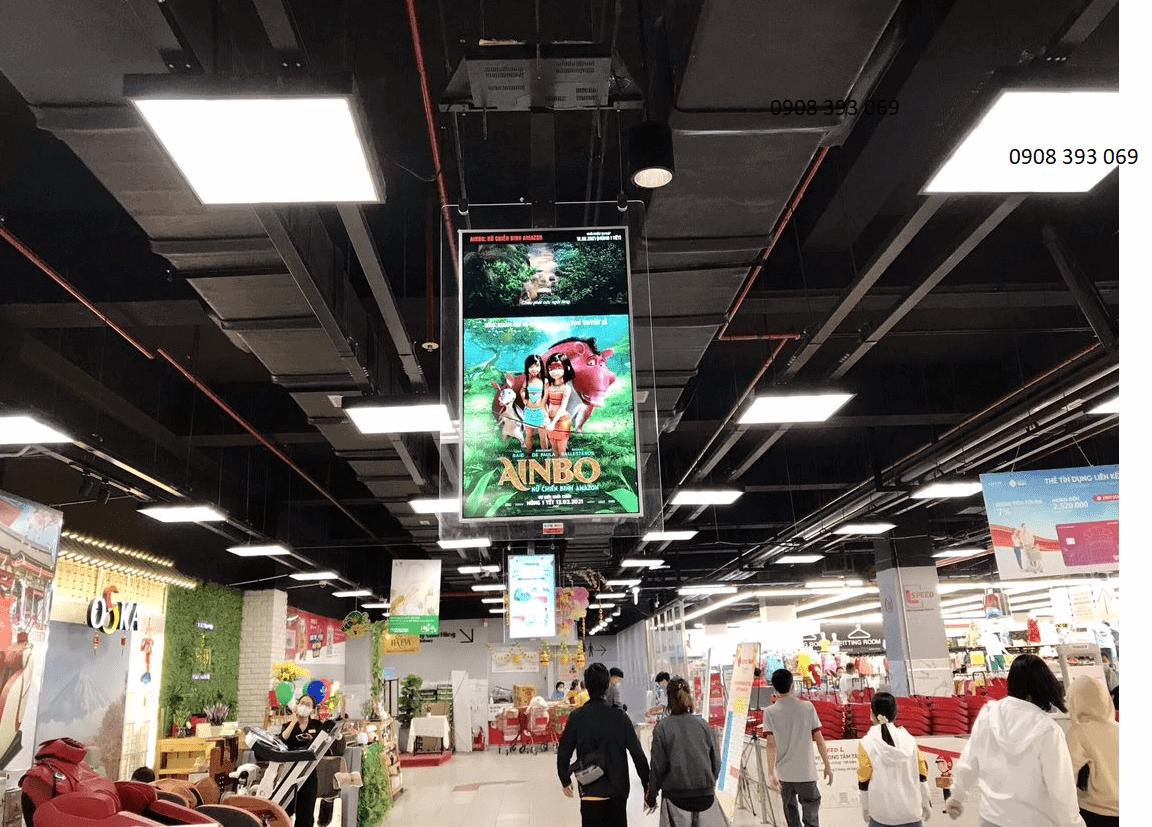 Hình ảnh quảng cáo phim trên S@m tại Lotte Mart