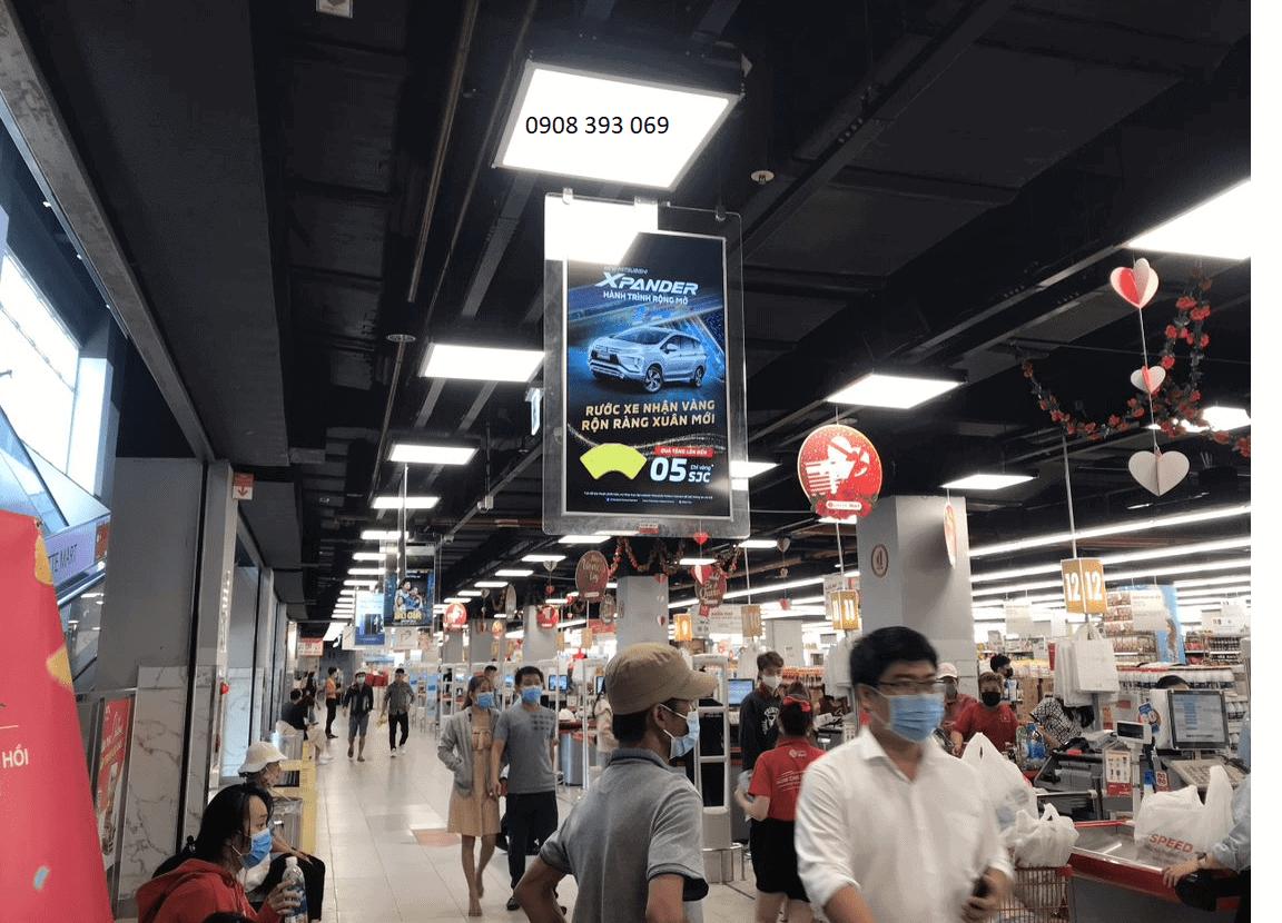 Hình ảnh quảng cáo trên S@m tại Lotte Mart