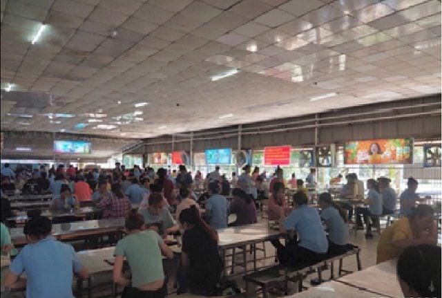 Quảng cáo trong canteen khu công nghiệp