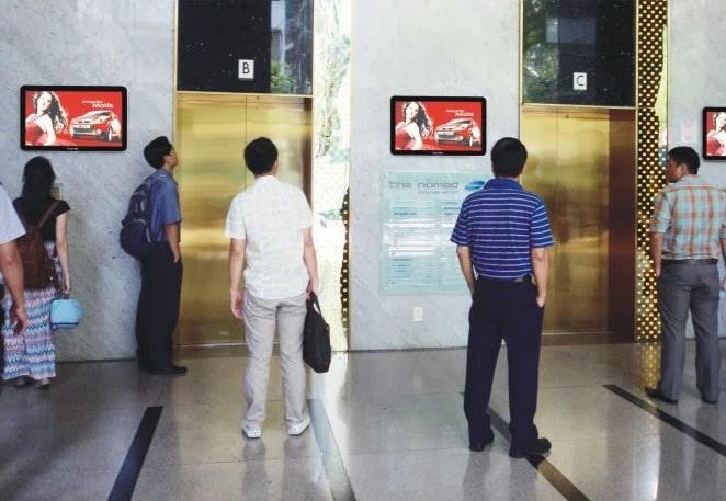 quảng cáo thang máy