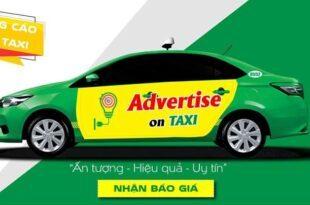 hình thức quảng cáo trên xe taxi