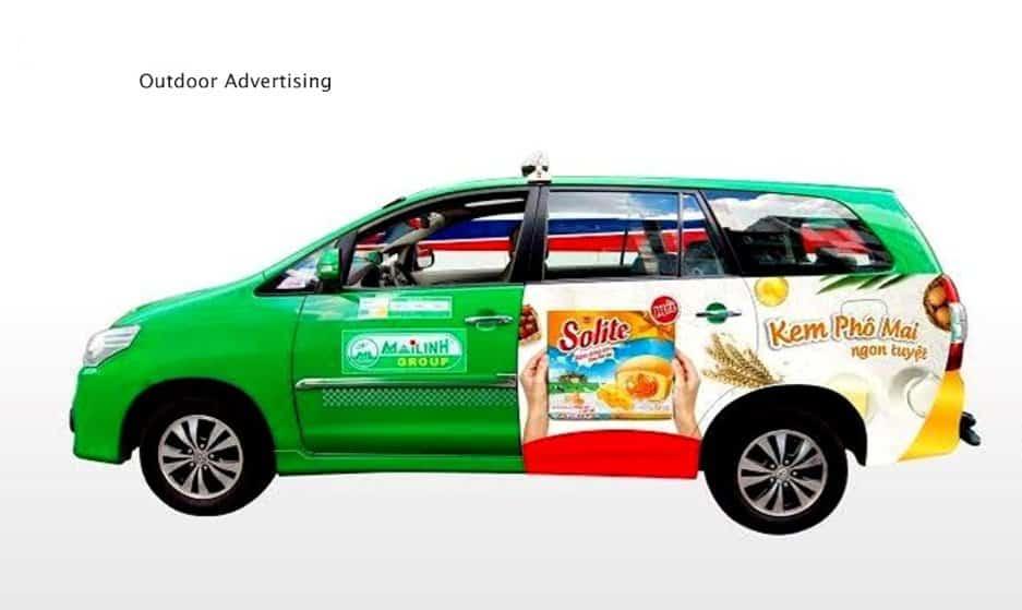 tư vấn quảng cáo trên xe taxi