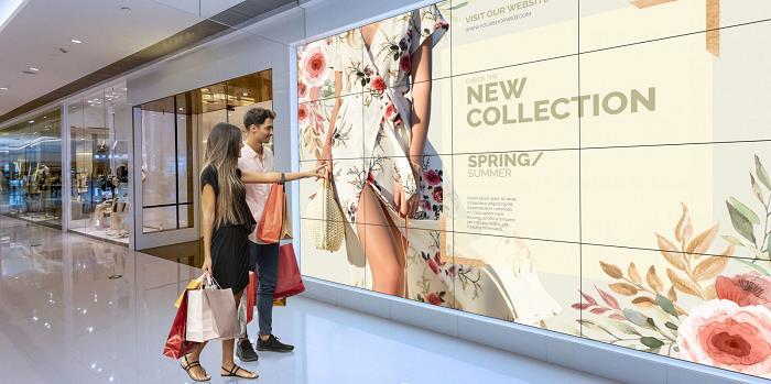 Quảng cáo màn hình ghép tại Trung tâm thương mại