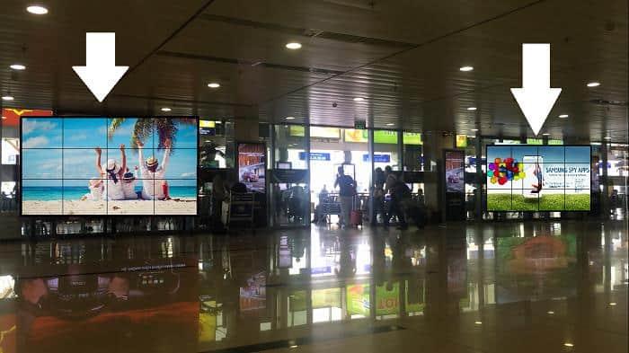 Quảng cáo màn hình ghép tại sân bay