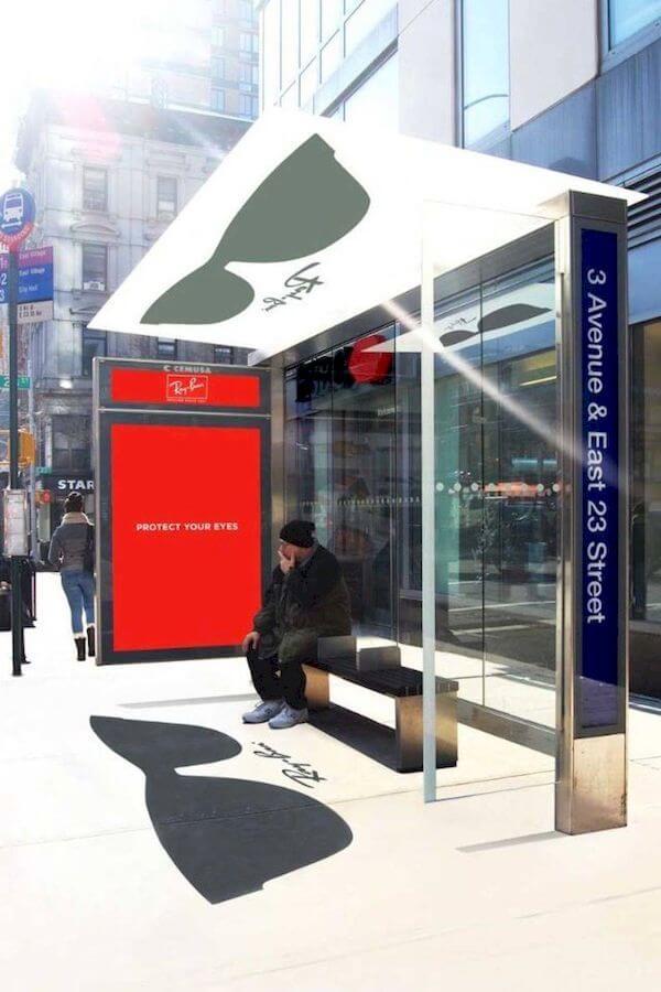 quảng cáo nhà chờ xe buýt thú vị