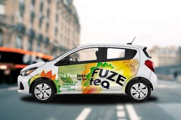 ưu điểm quảng cáo trên xe ô tô