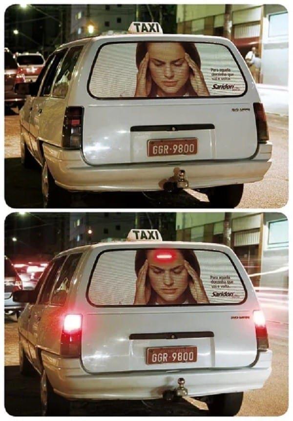 quảng cáo ấn tượng trên xe ô tô