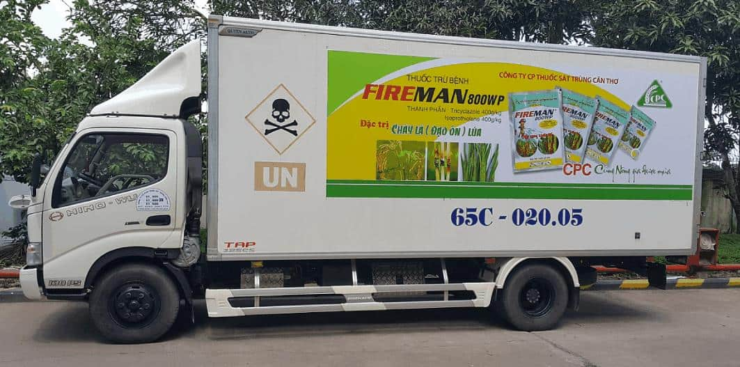 quy trình quảng cáo xe tải
