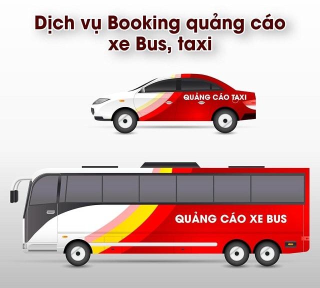 thiết kế quảng cáo xe bus kết hợp taxi