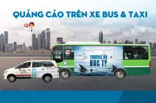 kết hợp quảng cáo xe bus và taxi